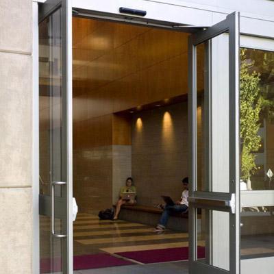 Balanced swinging door